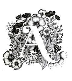 Brief eines Print Alphabet Kalligrafie Typografie