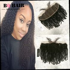 52.21$  Watch here - http://ali64d.worldwells.pw/go.php?t=32787733424 - BQ Hair Capelli Umani 8A Remy Malaysia Kinky Curly Cheap 13*4 Lace Frontal Pre Plucked Sew in 100% Virgin Unprocessed Human Hair
