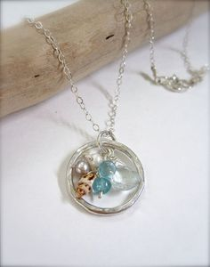 Hawaii shell jewelry Sterling silver eternity by Tidepools