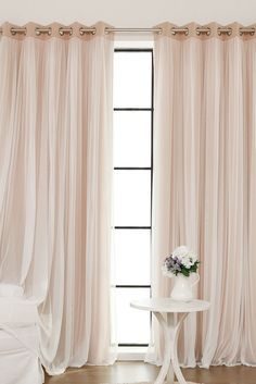 Blackout curtain with sheer touch