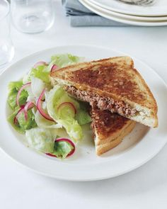 Patty Melt with Pickled Onion Salad Recipe