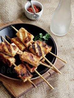 Harissa Marinated Tofu Skewers for AFBHLS | eCurry - The Recipe Blog