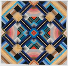 Title:November Study #1 Quiltmaker:Crow, Nancy Geographical Origin:Made in Baltimore, Ohio, United States Date:Dated 1980