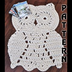 This listing is for rope owl rug pattern instructions only - instant download. If you are looking for the finished product, its available