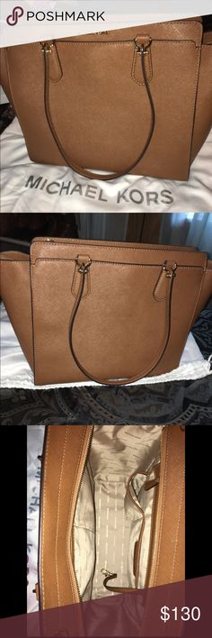 Michael Kors Large Brown Selma Bag This is a beautiful Michael Kors Selma bag that is perfect for all fashion lovers. There are no flaws on any part of this bag, and it has only been used twice. Its value is $358, so $130 is an absolute steal! The dust bag is also included. Michael Kors Bags Shoulder Bags