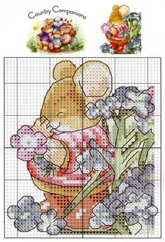 Tom Mouse to add Everything Cross Stitch, Just Cross Stitch, Cross Stitch Baby, Cross Stitch Animals, Cross Stitch Charts, Cross Stitch Designs, Cross Stitch Patterns, Cross Stitching, Cross Stitch Embroidery
