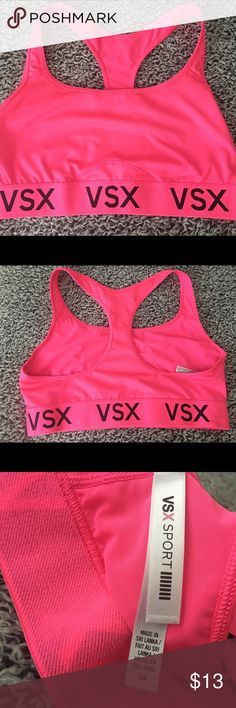Victoria Secret Sports Bra • Bright Pink Sports Bra • Fits Slightly Smaller • New W/o Tags • Price Is Firm Victoria's Secret Intimates & Sleepwear Bras