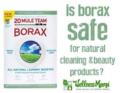 Borax is often used in natural cleaning and beauty recipes but it begs the question: is borax safe? Here's the research on both sides of the borax debate.