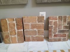 These are tiles that look like brick!! Super easy to install. LOVE Faux brick.