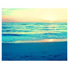 Ocean Photography, Sunset Photography, Ocean Photo, Beach Photography,... ($15) ❤ liked on Polyvore featuring backgrounds