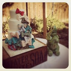 Vintage Bow Tie Cake perfect for a boy baby shower! - MUST BE DONE for Oana!