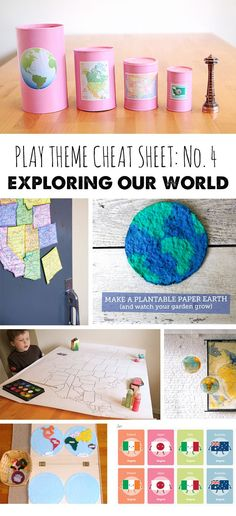 Tons of ways to play while learning about the world we live in. (Part of a regular play theme series - a new theme with lots of activities, books, etc. each month)
