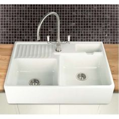 find this pin and more on 17 westbrae kitchen berlioz double sinks double ceramic - Double Ceramic Kitchen Sink