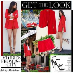 """""""Get the Look: Celebs in Sassy Summer Shorts. Ashley Madekwe"""" by hamaly on Polyvore Visit and follow me: http://hamaly.polyvore.com/ https://www.facebook.com/QueridasFashionistas"""