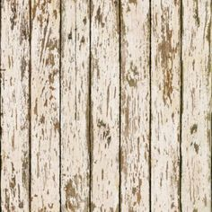 "Add a rustic touch to your home with the Grendel White Faux Weathered Wood Wallpaper from Brewster Home Products. 16.5'L x 20.5""W."