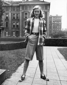 40s tomboy from flappergirlcreations! The plaid jacket and shoes combo is killing me.
