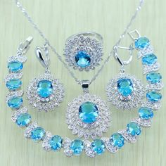 Sky Blue Rhinesto... Save 10% on Anything you Buy! Coupon Code: LOVE10   http://www.sainaluv.com/products/sky-blue-rhinestone-white-zircon-silver-color-jewelry-set?utm_campaign=social_autopilot&utm_source=pin&utm_medium=pin