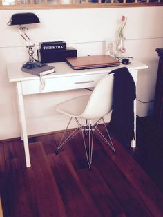 Nieuwe werkplek, Eames, bureau