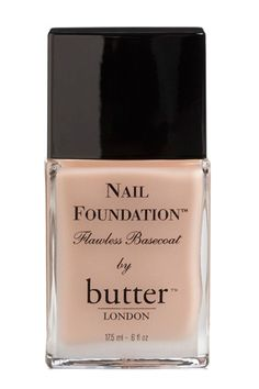 This look starts with a single coat of nude polish. butter London Nail Foundation Flawless Base Coat, £15, available at butter London.