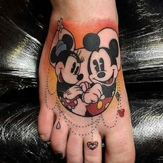 Done by artist @legoldensnitch #disneytattoos #disneytattoo #disneytatts #disney #tattoos #mickeyandminnie #mickeymouse #minniemouse