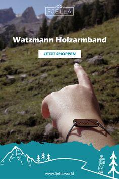 Dein Lieblingsberg als Armband: Der Watzmann als natürliches Holzarmband erinnert dich immer an deine Watzmannüberschreitung, den Hüttenabend im Watzmannhaus oder die Berchtesgadener Alpen. Wähle deine Lieblingsfarbe für das Band.    #holzschmuck #bergschmuck #schmuck #geschenk #alpen #armband    Schmuck, Berge, Bergschmuck, Holzschmuck, Armband, Wanderoutfit Daily Reminder, Mountains, Gift