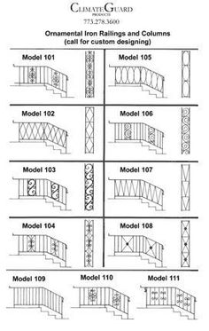 Add curb appeal to your midcentury home with ornamental iron or aluminum porch columns -- 3 sources for this old school product — Retro Renovation (we need to replace ours, they are rusted completely through in places) Front Porch Railings, Porch Columns, Staircase Railings, Deck Railings, Iron Railings, Staircases, Stairs, Deck Gate, Interior Railings