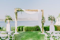 Wedding arch decorations | Romantic wedding decor | Summer wedding | Destination weddings | Greek Island wedding | Athens Riviera