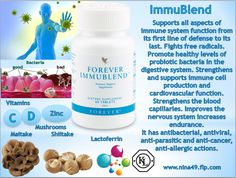 •Signs of declining immune activity •fast fatigue •chronic fatigue •sleepiness or insomnia •headache •aching muscles and joints. Immunity-our ticket to infinity, so called it American scientist Robert Goldman •FLP took care of your immunity, by creating a new unique product-Forever Immublend that will help you support the immune system  Order at www.nina49.flp.com