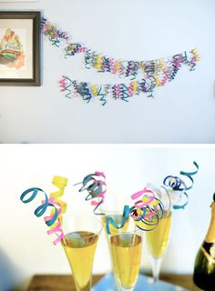Curly strips decoration