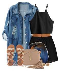 """""""Untitled #625"""" by b-elkstone ❤ liked on Polyvore featuring Chicnova Fashion, H&M, Yves Saint Laurent and Billabong"""