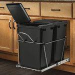 Rev-A-Shelf Double 27 Quart Pullout Waste Container & Reviews | Wayfair
