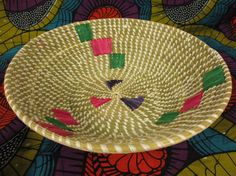 Your place to buy and sell all things handmade Basket Weaving, Hand Weaving, Traditional Bowls, Valentines Day Gifts For Her, Green And Purple, Thoughtful Gifts, Decorative Bowls, African, Fruit