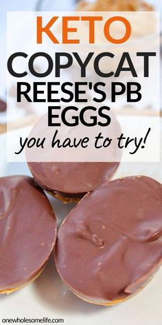 Homemade copycat recipe for Keto chocolate peanut butter eggs that are low carb, sugar free, and gluten free. Perfect Easter treat These keto chocolate peanut butter eggs are a decedent Easter treat made with only six simple ingredients. Ketogenic Diet For Beginners, Ketogenic Recipes, Low Carb Recipes, Easter Keto Recipes, Budget Recipes, Keto Cookies, Cookies Et Biscuits, Keto Desserts, Keto Snacks