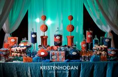 Candy buffet blue & orange