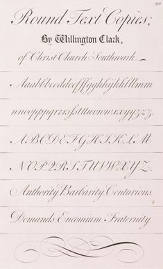 Copperplate Calligraphy, Calligraphy Alphabet, Lettering Guide, English Writing, Antique Prints, Script, Paper, Cursive Calligraphy, Script Typeface