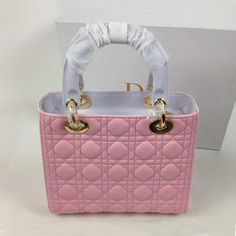 M0550PBAN Two-tone lilac and Three mixed colors Leather Lady Dior