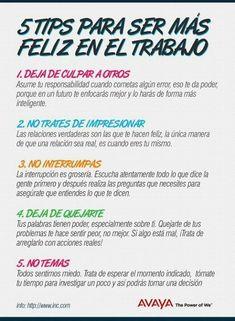 5 Tips para ser más feliz en el #trabajo