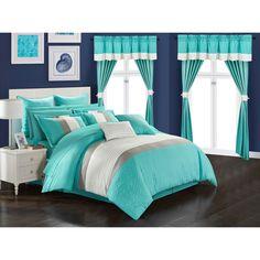 Teal Bedding Sets, Teen Bedding, Queen Comforter Sets, Red Comforter, Room In A Bag, Bed In A Bag, Bedroom Turquoise, Tiffany Blue Bedroom, Teen Girl Bedrooms