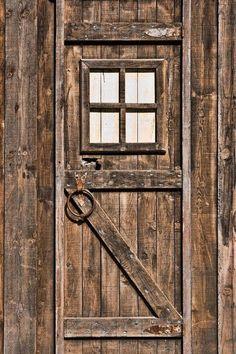 Old weathred door