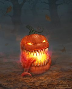 Photoshop cs4 The story behind the artwork. The pumpkinheads come to life the night of halloween. They are born from a simple pumpkin, but what creates them is the blood that is spilled in the fiel...