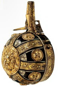 A fine and rare south German powder flask, Augsburg, ca 1580.