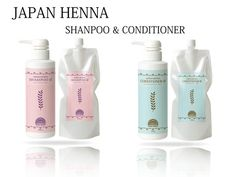 """""""JAPAN HENNA"""" Shampoo & Conditioner (Organic ingredients) / <<< Click it and see in detail. >>>"""