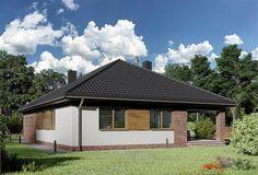 Projekt domu Kordian Rex - murowana – beton komórkowy 124,6 m2 - koszt budowy - EXTRADOM Home Fashion, Gazebo, House Plans, Outdoor Structures, Cabin, House Styles, Home Decor, Projects, Blueprints For Homes