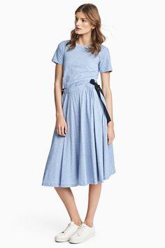 light / baby blue casual dress ribbon
