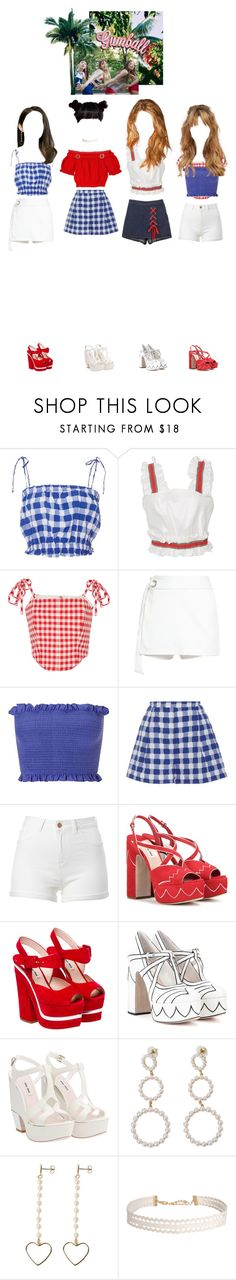 """""""[MV] Gumball_Girl Crush"""" by girlcrush-official ❤ liked on Polyvore featuring MDS Stripes, Viva Aviva, VIVETTA, Miss Selfridge, Miu Miu, Humble Chic and gumballera"""