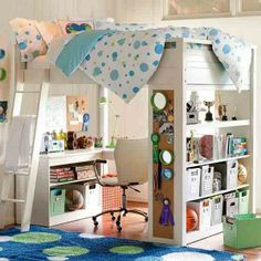 Teenage Small Bedroom Decorating <3 this would be great for my room (: