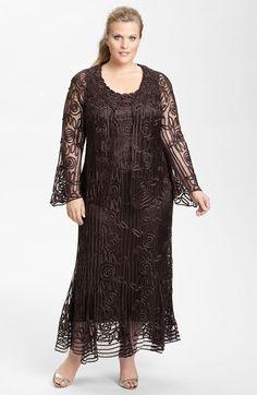 Shop 1920s Plus Size Dresses and Costumes: Soulmates Ribbon Silk Dress & Jacket (Plus Size) $528.00