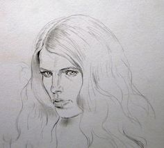 Brooding Look, drawing, 2010