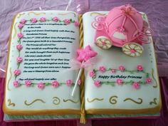Princess Storybook Cake. So cute!Alyssa's birthday cake ideas