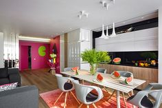 Fresh and colorful apartment in Russia by Bazant Studio